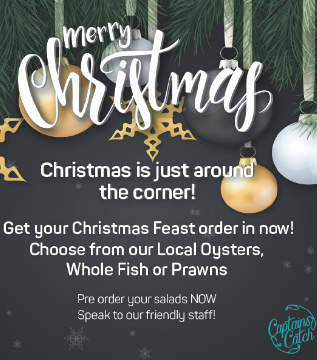 Pre-order your Christmas Feast from Captains Catch today!