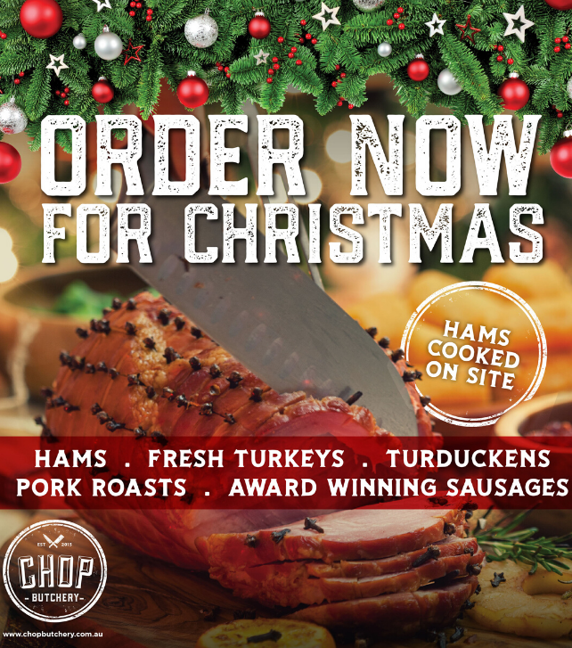 Pre-order your Christmas feast at Chop Butchery!