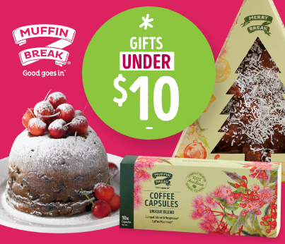Under $10 Christmas Gifts at Muffin Break