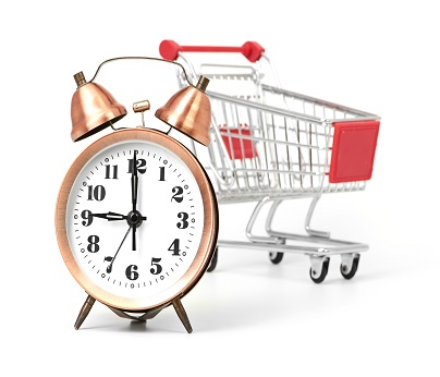 trading hours clock & Trolley