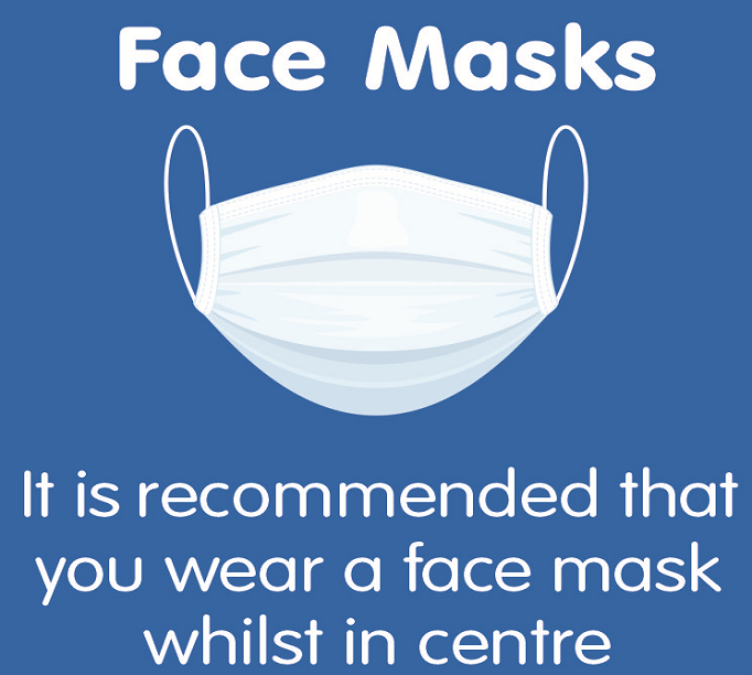Face mask recommended 682